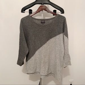 Market & Spruce Bi-Colored Grey 3/4 Sleeve Medium